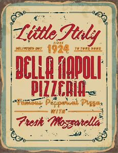 Reproduction 'Little Italy Vintage Pizzeria' Poster