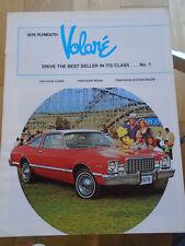 Plymouth Volare opuscolo 1978 mercato canadese