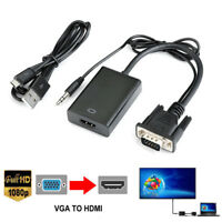 HDMI Adapter Cable VGA Male To HDMI HD 1080P/Audio TV+/Micro USB Converter Cord