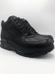 Nike Air Max Goadome ACG Boots 865031-009 Black Triple Black Leather Men's 18
