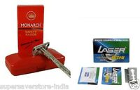 Monarch Butterfly Double Edge Shaving Safety Razor + 100 BLADES