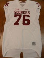 White Nike Team Issued University of Oklahoma Sooners Football Jersey #76