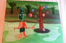 Great Outsider Art Painting – Headhunter