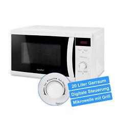 comfee CMG 20 DW Mikrowelle & Grill 800 W & 1000 W, 20 L Garraum, LED-Display