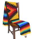 Mexican Blanket Vintage Style Native Diamond Retro Yellow Serape Saltillo Falsa