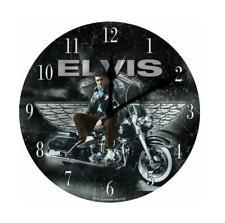 """Elvis Presley Motorcycle 12"""" Wall Clock. Brand NEW in package!"""