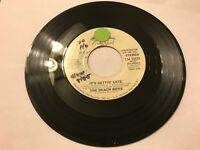 THE BEACH BOYS IT'S GETTIN' LATE  45 RECORD PROMO