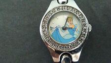 Ladies Disney Cinderella Rhinestones Silver Watch