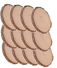 Natural Wood Log Slices Wedding Name Tags and Decorations 12 Pack, Wooden Crafts