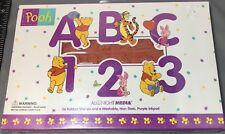 NEW Walt Disney Winnie the Pooh ABC 123 Set 36 Rubber Stamps All Night Media