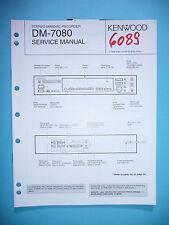 Instrucciones Manual de servicio para Kenwood dm-7080, original