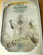 *RARE NEW DISNEY COUTURE Alice in Wonderland WHITE QUEEN SILVER CHARM BRACELET