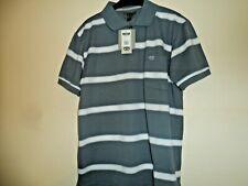 Bnwt new ED Harry grey & white short sleeved polo t-shirt size L