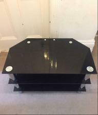 Black Glass TV stand - beautiful