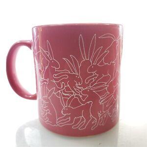 "TAYLOR & NG Rabbit Mug ""Red Daytime"" Vintage 1979 Made in Japan"