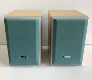 Aiwa Mini Shelf Speakers SX-LM77 Made In Japan Hifi