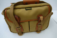 BILLINGHAM 225 CANVAS CAMERA BAG WITH INSERT - KHAKI CANVAS  / TAN LEATHER