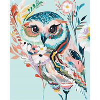 Full Drill 5D Fresh Owl Diamond Painting Embroidery Cross Stitch Kit Gift Decor