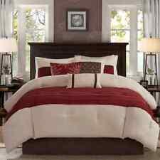 SEALED Madison Park Microsuede 7-pc Comforter Complete Set - Red Leaf - KING
