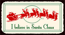 (VMA-L-6580) I Believe In Santa Vintage Metal Art Christmas Retro Tin Sign