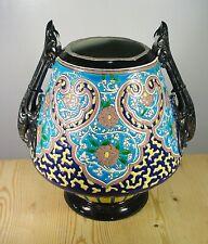 Sarreguemines China Large Heavy Art Nouveau Vase