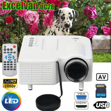 Mini 1080P HD LED/LCD Proyector Home Cinema Teatro PC Phone VGA/USB/SD/AV/HDMI