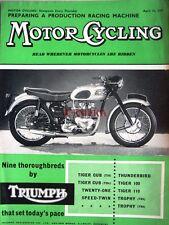 Apr 11 1957 TRIUMPH Motor Cycles ADVERT - Original Magazine Cover Print