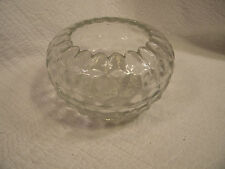 Glass serving bowl clear 7 in diameter starburst base and fluted edge