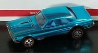 Restored Hot Wheels Redline - 1968 - Custom Cougar - Aqua