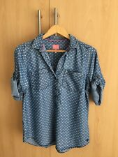 JOULES Chiltern Top Chambray Blue Size 12