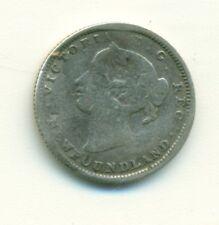 Newfoundland 5 cents 1873 Type 1 2 Extra Dots Rare AG