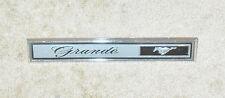 1969 1970 Mustang Grande Coupe ORIGINAL WOOD GRAIN DASH RH 'GRANDE' EMBLEM