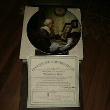 Norman Rockwell Grandma'S Love Collector Plate ~ Rockwell's Golden Moments 1988