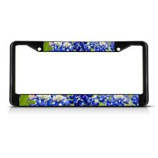 TEXAS BLUE BONNET Flower Metal License Plate Frame Tag Border
