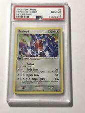 2005 Pokemon EX Emerald Holo Exploud Game Trading Card #3 PSA 10 GEM MINT