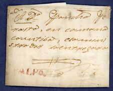 Peru 1831 Prephilatelic Cover Palpa to Military Commander