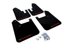 Rally Armor Mud Flaps Guards for 98-02 Subaru Forester (Black w/Red Logo)