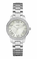Designer Guess Ladies Watch RRP £189 'Allure' Silver UK Warranty  W0444L1 SALE