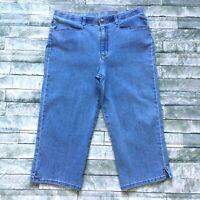 Gloria Vanderbilt Womens Jeans size 14 Medium Wash Capris Cropped Cotton Stretch
