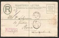 LEEWARD ISLANDS REGISTERED LETTER DOMINICA TO BERN SWITZERLAND 1905 EINGESCHRIEB