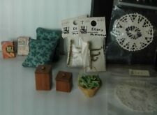8 Item Lot For The House ~ Pillows, Wall Hooks, Greenbeans, & More 1:12 Scale
