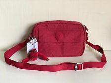 NEW! KIPLING ABBAS CANDIED RED CROSSBODY SLING MESSENGER BAG PURSE SALE