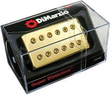 DIMARZIO DP100 Super Distortion Humbucker Pickup GOLD Cover, Regular Spaced