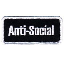 "Anti-Social Patch - Punk, Introvert, Quarantine Badge 3.25"" (Iron on)"