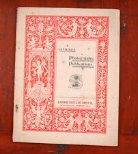 SCOVILL & ADAMS 1889 CATALOG OF PHOTOGRAPHIC PUBLICATIONS/cks/204110