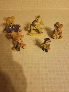 Miniature Ceramic Bears Assorted Set of 5