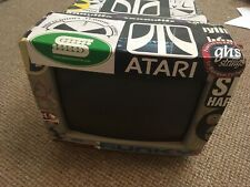 Stickerbombed Atari SM124 Monochrome Monitor For Atari ST Mega Cubase Etc