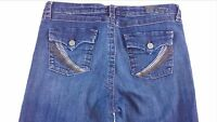 Kut From The Kloth Jeans Womens SZ 8 Flap Pockets Thick Stitch 33 x 32 Actual
