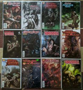 LUCIO PARRILLO VF+NM Lot of 12, Vampirella, Red SONJA, Warlord of MARS, LORDOTJ