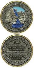 Catholic Christian Religious Challenge Coin Token: Serenity Prayer + Bonus Book